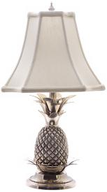 Solid brass pineapple table lamp at LAMPS PLUS