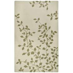 Tree Tops Ivory Handmade Indoor-Outdoor Rug