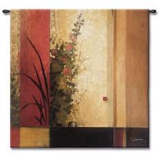 "The Hollyhock Garden Large 53"" Wide Wall Tapestry"