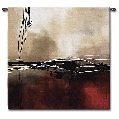 "Dreams in Claret and Black Small I 35"" Square Wall Tapestry"
