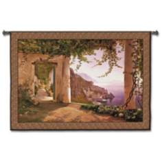 "Amalfi in Spring 78"" Wide Wall Tapestry"