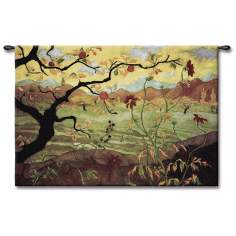 "Under the Apple Tree 53"" Wide Wall Tapestry"