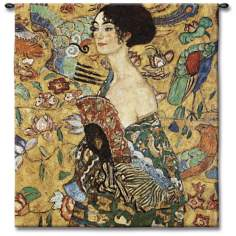 "La Femme Eventail 52"" High Wall Tapestry"