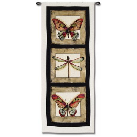 "Butterfly and Dragonfly 49"" High Wall Tapestry"