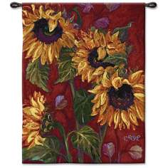 "Sun From a Flower 53"" High Wall Tapestry"