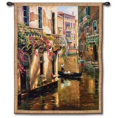 "Canal Conversation 52"" High Wall Tapestry"