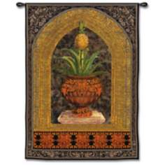 "Pineapple Surprise Small 34"" High Wall Tapestry"