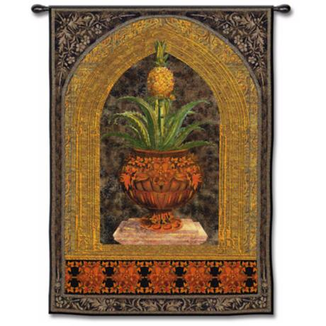 "Pineapple Surprise Medium 53"" High Wall Tapestry"