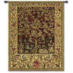 "Tree of Life Ruby Small 53"" High Wall Tapestry"