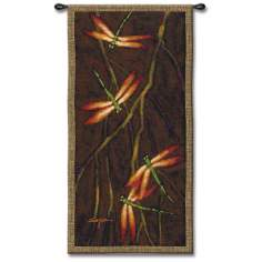 "Autumnal Dragonfly 53"" High Wall Tapestry"