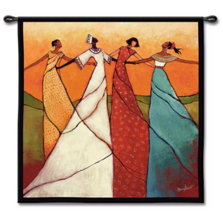 "Bonds of Women 53"" Square Wall Tapestry"