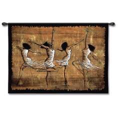 "Festive Dancers 52"" Wide Wall Tapestry"