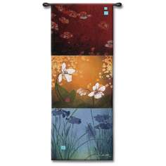 "Florals in Three I 53"" High Wall Art"