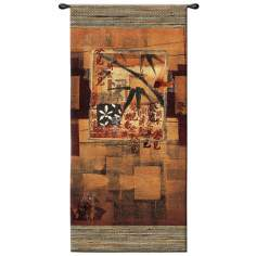 "Bamboo Inspirations I Hanging 52"" High Wall Tapestry"