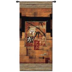 "Bamboo Inspirations II Hanging 52"" High Wall Tapestry"