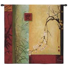 "Spring Chorus Large 53"" Square Wall Hanging Tapestry"