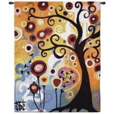 "June Tree 53"" High Wall Hanging Tapestry"