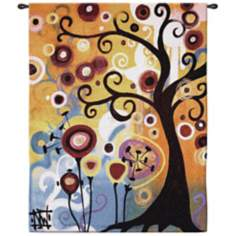 "June Tree Large 65"" High Wall Hanging Tapestry"