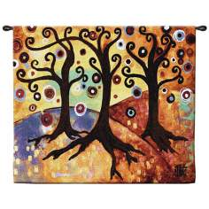 "Trinitary 53"" Wide Wall Hanging Tapestry"