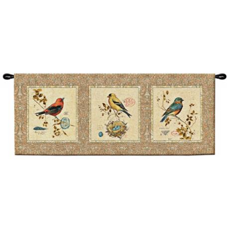"Songbirds 53"" Wide Wall Hanging Tapestry"