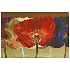 "Poppy Tango 52"" Wide Wall Hanging Tapestry"