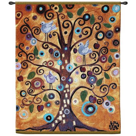 "Tree of Life 53"" High Wall Hanging Tapestry"