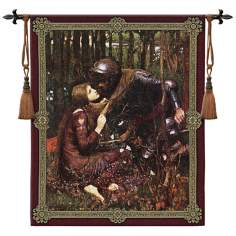 "La Belle Dame Sans Merci 52"" Wide Wall Hanging Tapestry"