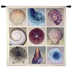 "Shell Collection 52"" Square Wall Hanging Tapestry"