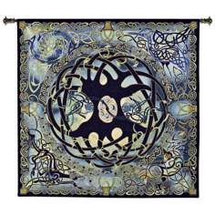 "Celtic Tree of Life 52"" Wide Wall Hanging Tapestry"