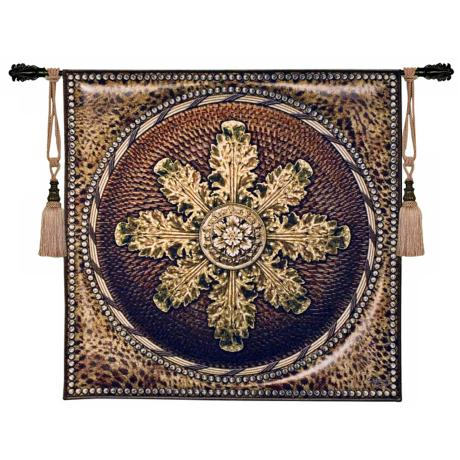 "Leopard with Rosette 45"" Square Wall Hanging Tapestry"