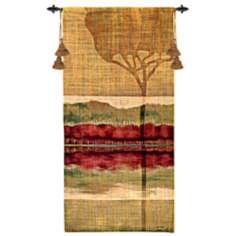 "Autumn Collage II 51"" High Wall Hanging Tapestry"