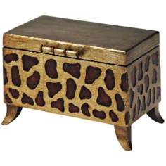 Cheetah Print Wooden Box