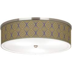 "Deco Revival Giclee Nickel 20 1/4"" Wide Ceiling Light"