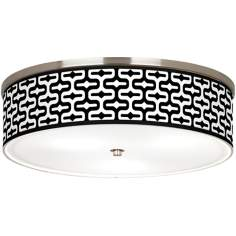 "Reflection Giclee Nickel 20 1/4"" Wide Ceiling Light"