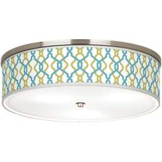 "Hyper Links Giclee Nickel 20 1/4"" Wide Ceiling Light"