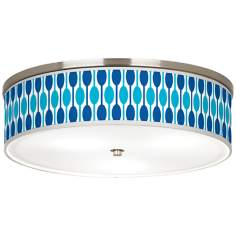"Jet Set Giclee Nickel 20 1/4"" Wide Ceiling Light"