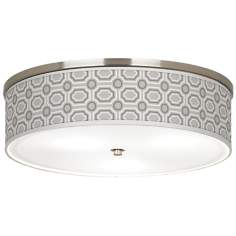 "Luxe Tile Giclee Nickel 20 1/4"" Wide Ceiling Light"