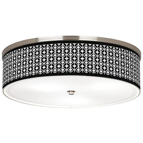 "Matrix Giclee Nickel 20 1/4"" Wide Ceiling Light"