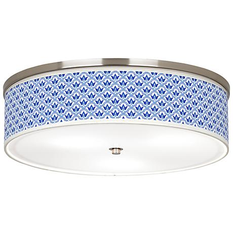 "Arabella Giclee Nickel 20 1/4"" Wide Ceiling Light"