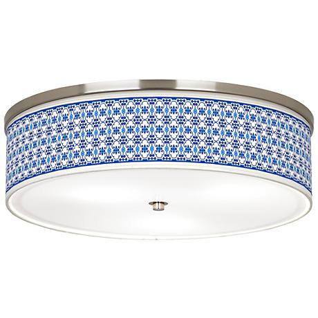 "Indigo Path Giclee Nickel 20 1/4"" Wide Ceiling Light"