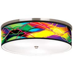 "Colors in Motion Nickel 20 1/4"" Wide Ceiling Light"