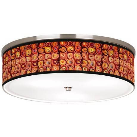 "Vibrating Colors Nickel 20 1/4"" Wide Ceiling Light"
