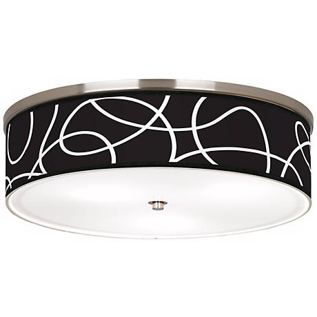 "Abstract Nickel 20 1/4"" Wide Ceiling Light"
