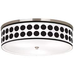 "Black Orbs Nickel 20 1/4"" Wide Ceiling Light"