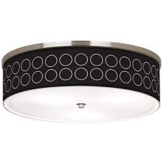 "Portholes Nickel 20 1/4"" Wide Ceiling Light"