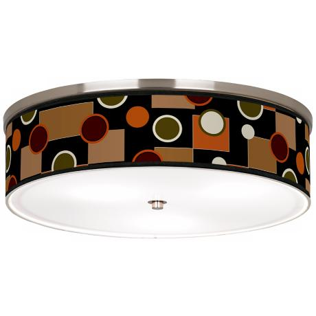 "Retro Medley Nickel 20 1/4"" Wide Ceiling Light"