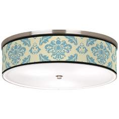 "Azure Crest Nickel 20 1/4"" Wide Ceiling Light"