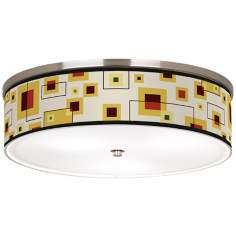 "Windows Nickel 20 1/4"" Wide Ceiling Light"