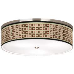 "Simply Squares Nickel 20 1/4"" Wide Ceiling Light"
