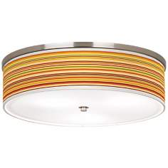 "Stacy Garcia Harvest Stripe Nickel 20 1/4"" Ceiling Light"